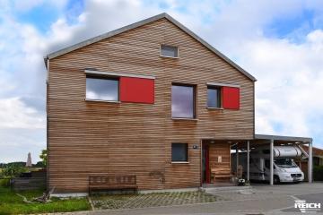 EFH als Passivhaus mit Rhombusschalung